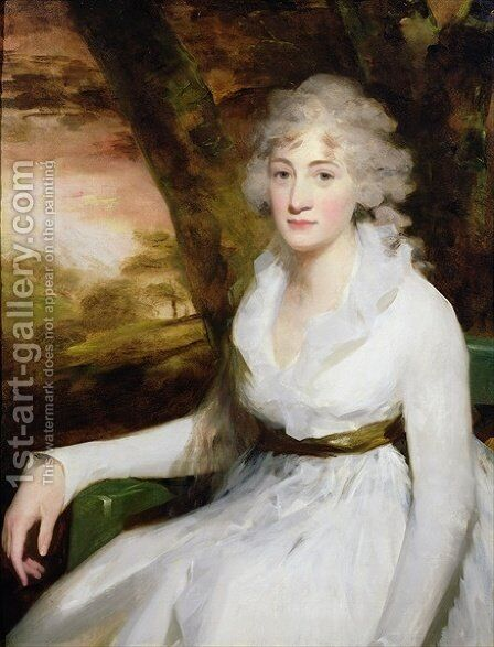 Portrait of Isabella Halkett, c.1795 by Sir Henry Raeburn - Reproduction Oil Painting