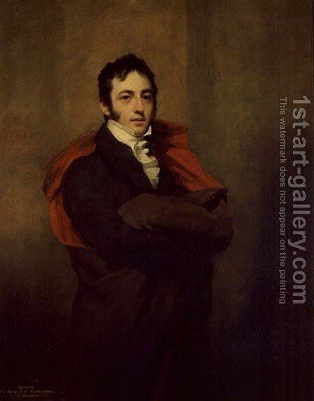 Spencer, 2nd Marquess of Northampton, 1821 by Sir Henry Raeburn - Reproduction Oil Painting