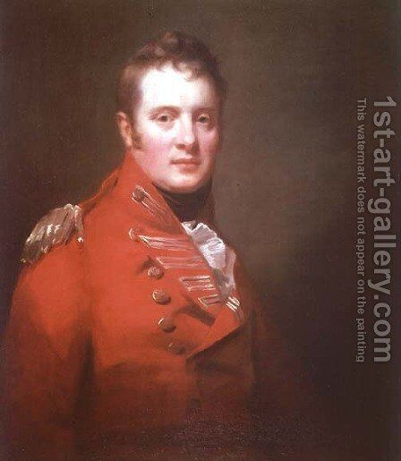 Colonel A. Campbell of Possil by Sir Henry Raeburn - Reproduction Oil Painting