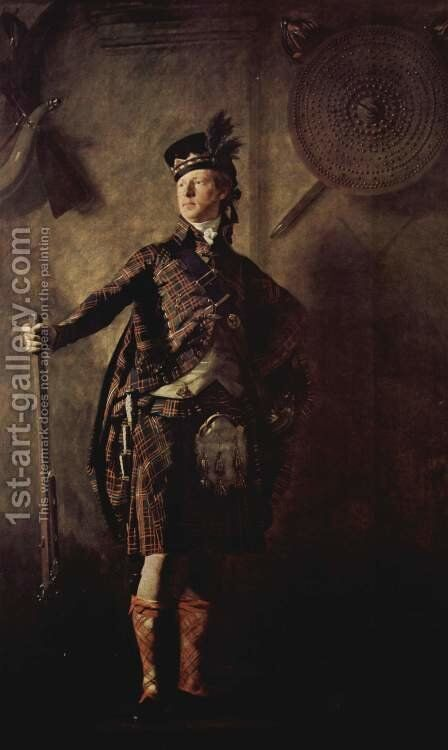 Colonel Alistair Macdonell of Glengarry, exh. 1812 by Sir Henry Raeburn - Reproduction Oil Painting