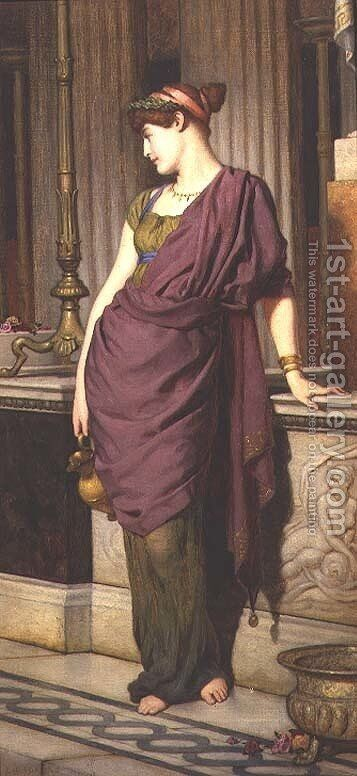 A Grecian Girl by Edward Radford - Reproduction Oil Painting
