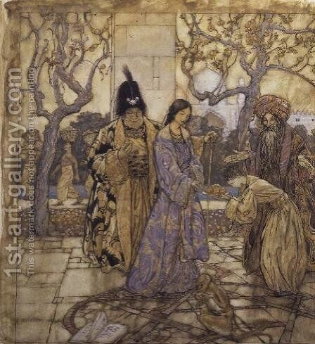 They Harvested for Ahmeds Princely Hand, 1917 by Arthur Rackham - Reproduction Oil Painting