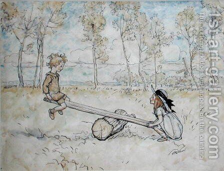 See, Saw, Margery Daw, 1906, illustration from Mother Goose The Old Nursery Rhymes, Heinemann, 1913 by Arthur Rackham - Reproduction Oil Painting