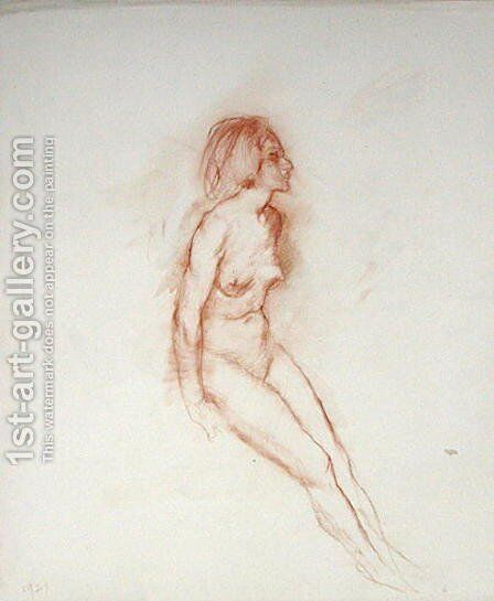 Nude, head uplifted, 1921 by Arthur Rackham - Reproduction Oil Painting