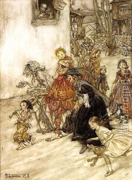 Illustration To Mother Goose, 1913 by Arthur Rackham - Reproduction Oil Painting