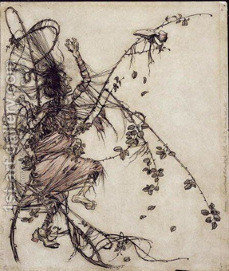 Sweetheart Roland', illustration from The Brothers Grimm, translated by Mrs Edgar Lewis, published 1900 by Arthur Rackham - Reproduction Oil Painting