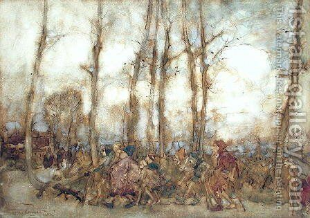 The Beggars Are Coming to Town, 1912 by Arthur Rackham - Reproduction Oil Painting
