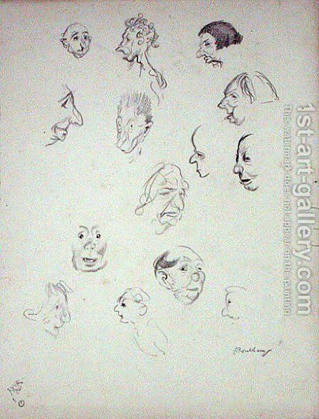 Grotesque Faces by Arthur Rackham - Reproduction Oil Painting