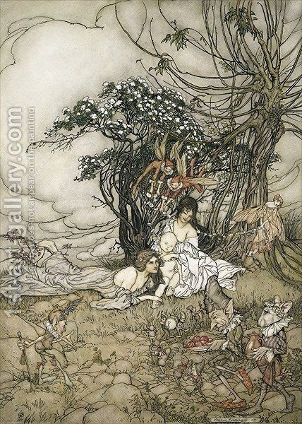 The Changeling, 1905 by Arthur Rackham - Reproduction Oil Painting