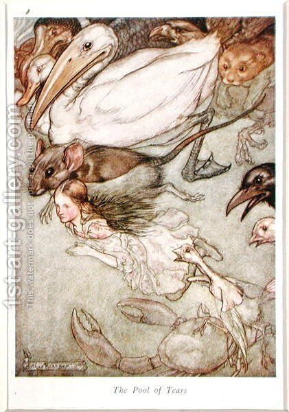 The Pool of Tears, from Alices Adventures in Wonderland by Lewis Carroll 1832-98 1907 by Arthur Rackham - Reproduction Oil Painting