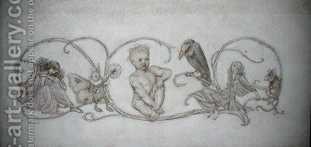 Peter Pan, illustration from Peter Pan in Kensington Gardens, London, published 1906 by Arthur Rackham - Reproduction Oil Painting