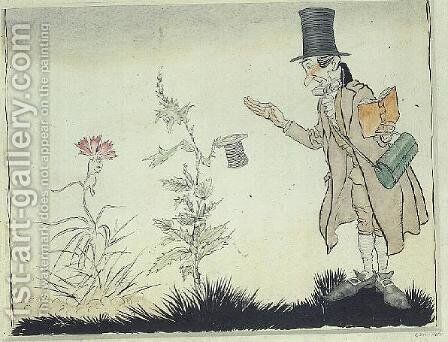 The Professor cant stand that sort of thing, illustration to Adas Little Flowers from Fairy Tales by Hans Christian Andersen, 1932 by Arthur Rackham - Reproduction Oil Painting