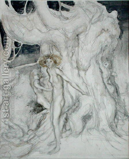 Wood Nymphs by Arthur Rackham - Reproduction Oil Painting