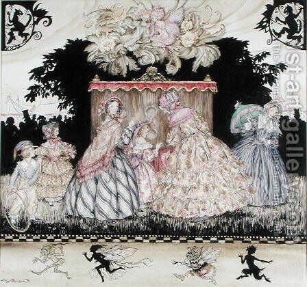 The Peep Show, cover illustration for Costumes Through the Ages, Maggs Brothers, 1938 by Arthur Rackham - Reproduction Oil Painting