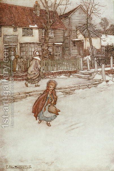 New Years Cakes from Rip van Winkle by Washington Irving 1783-1859, 1905 by Arthur Rackham - Reproduction Oil Painting