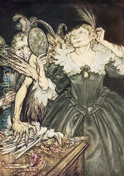 Comus by John Milton And they, so perfect is their misery, 1914 by Arthur Rackham - Reproduction Oil Painting