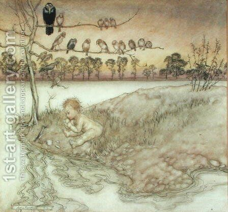 Illustration to Peter Pan in Kensington Gardens by J.M. Barrie, 1912 by Arthur Rackham - Reproduction Oil Painting