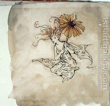 Daisy Fairy, illustration from Peter Pan in Kensington Gardens, by J.M. Barrie, published 1912 by Arthur Rackham - Reproduction Oil Painting