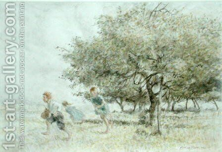 Scrumping by Arthur Rackham - Reproduction Oil Painting