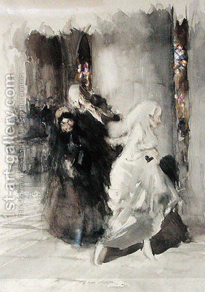 At the Wedding by Arthur Rackham - Reproduction Oil Painting