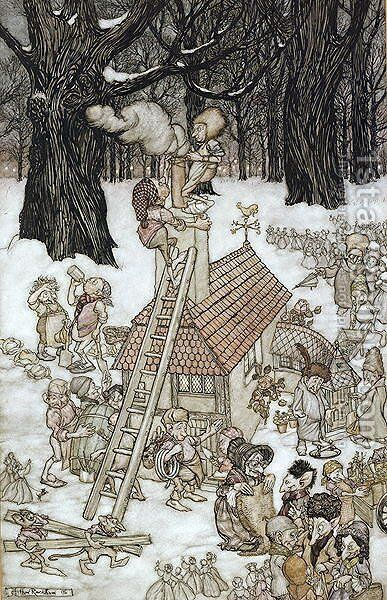 The House Built for Maimie, 1906 by Arthur Rackham - Reproduction Oil Painting