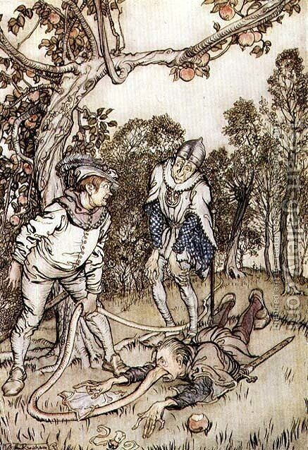 Illustration from The Nose Tree from Fairy Tales of the Brothers Grimm, 1900 by Arthur Rackham - Reproduction Oil Painting