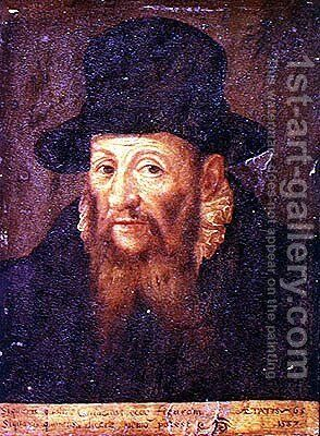 Jacques Cujas 1522-90 aged 65 by Augustin II Quesnel - Reproduction Oil Painting