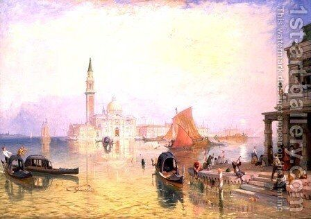 Venice Giudecca by James Baker Pyne - Reproduction Oil Painting