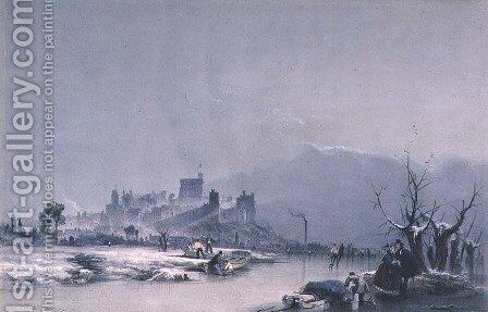Windsor Castle from the Thames by James Baker Pyne - Reproduction Oil Painting