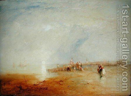 Whitstable Sands with Women Shrimping, 1847 by James Baker Pyne - Reproduction Oil Painting