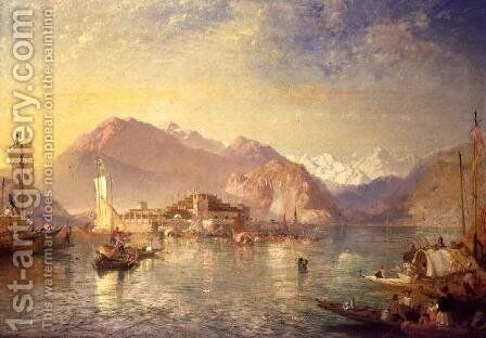 Isola Bella on Lake Maggiore by James Baker Pyne - Reproduction Oil Painting