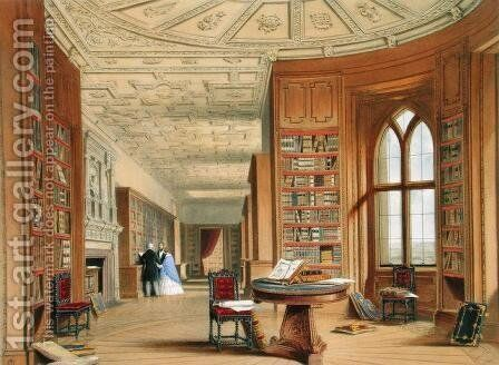 The Library, Windsor Castle, 1838 by James Baker Pyne - Reproduction Oil Painting