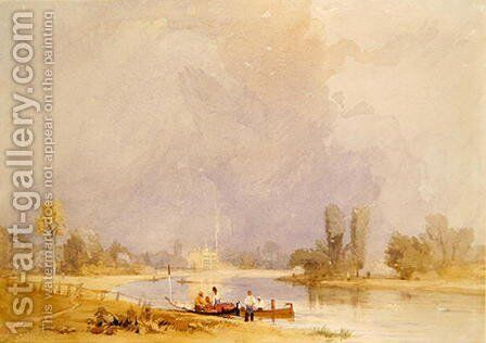 Syon House, on the Thames by James Baker Pyne - Reproduction Oil Painting