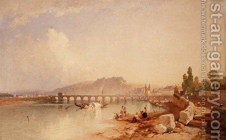 Coblenz and Ehrenbreitstein by James Baker Pyne - Reproduction Oil Painting