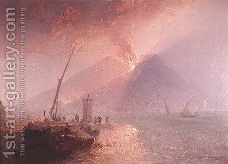 Eruption of Mt.Vesuvius, 1856 by James Baker Pyne - Reproduction Oil Painting