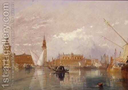View of Venice, 1867 by James Baker Pyne - Reproduction Oil Painting