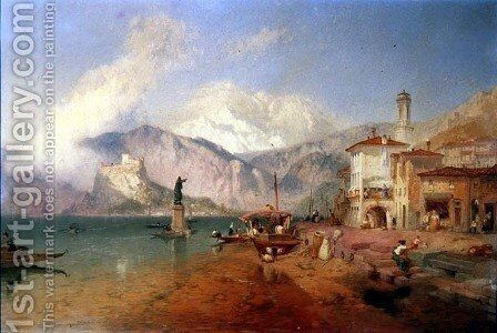Lake Como by James Baker Pyne - Reproduction Oil Painting