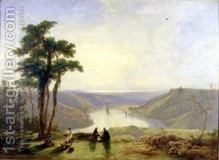 View of the Avon from Durdham Down, 1829 by James Baker Pyne - Reproduction Oil Painting