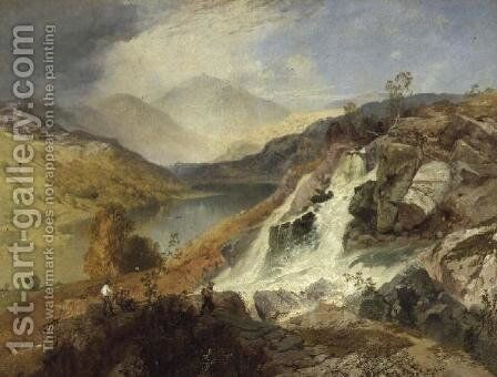 Haweswater From Waller Gill Force by James Baker Pyne - Reproduction Oil Painting