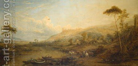 Evening, Arundel Castle by James Baker Pyne - Reproduction Oil Painting