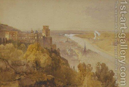 View of Heidelberg by James Baker Pyne - Reproduction Oil Painting