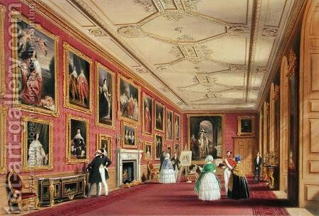 The Vandyke Room, Windsor Castle, 1838 by James Baker Pyne - Reproduction Oil Painting
