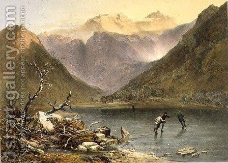 Brothers Water, from The English Lake District, 1853 by James Baker Pyne - Reproduction Oil Painting