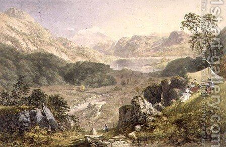 Thirlmere and Wythburn, from The English Lake District, 1853 by James Baker Pyne - Reproduction Oil Painting