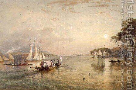 Lake Windermere, from The English Lake District, 1853 2 by James Baker Pyne - Reproduction Oil Painting