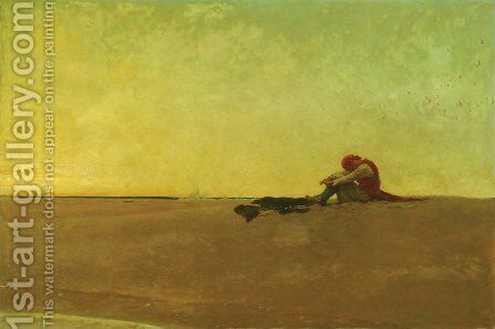 Marooned, 1909 by Howard Pyle - Reproduction Oil Painting
