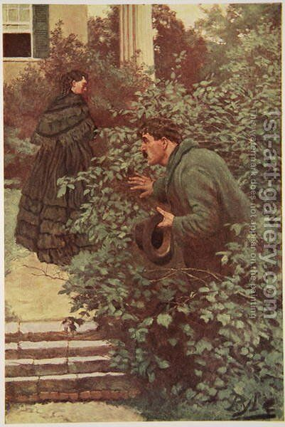 She was continually beset by Spies by Howard Pyle - Reproduction Oil Painting
