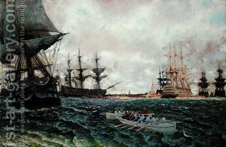 The Evacuation of Charleston, from The Story of the Revolution by Henry Cabot Lodge 1850-1924, published in Scribners Magazine, September 1898 by Howard Pyle - Reproduction Oil Painting
