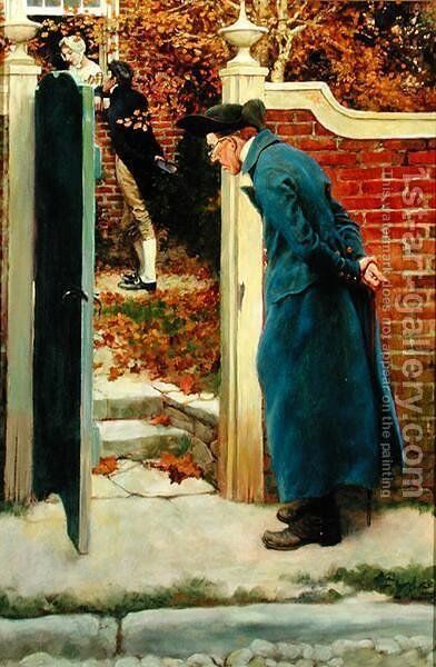 Old Jacob van Kleeke Had Never Favored our Heros Suit, for The Mysterious Chest by Howard Pyle, published in Harpers Monthly Magazine, December 1908 by Howard Pyle - Reproduction Oil Painting