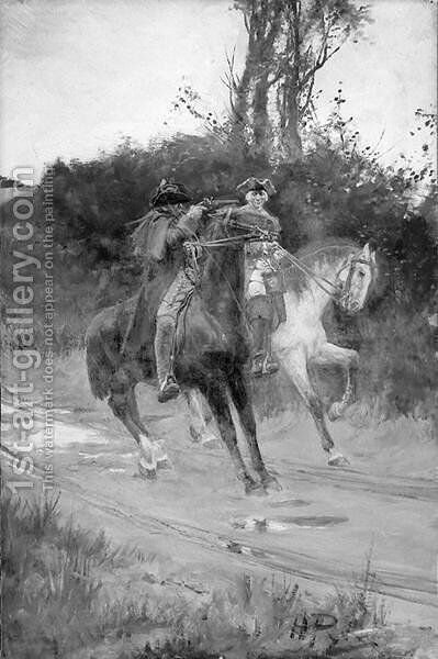 Turpin and King by Howard Pyle - Reproduction Oil Painting